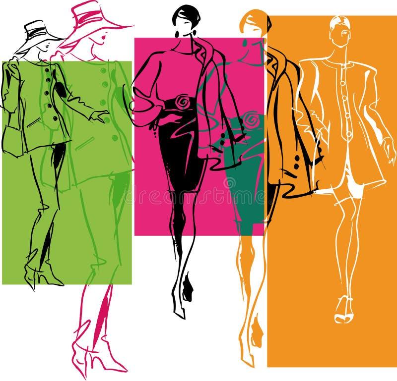 modeillustrationkvinna royaltyfri illustrationer