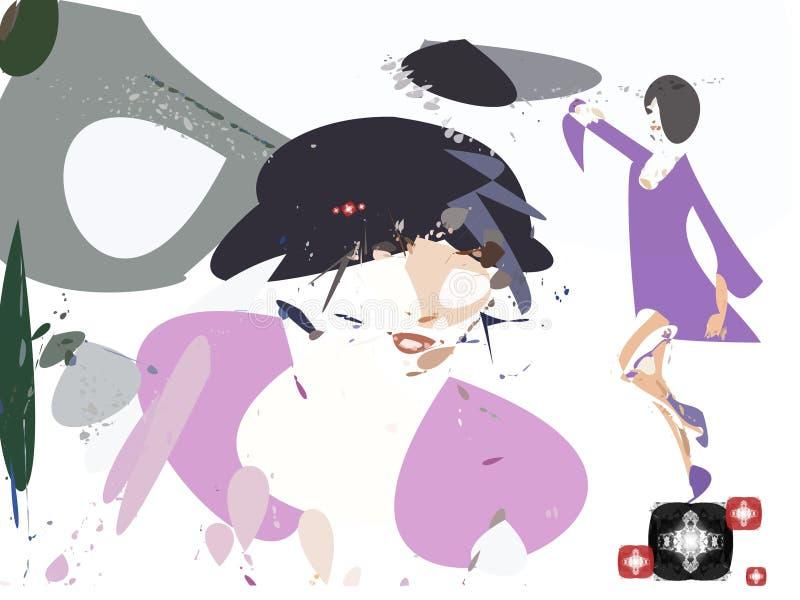 modejuvlar stock illustrationer