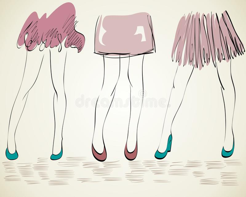 Modekvinna royaltyfri illustrationer