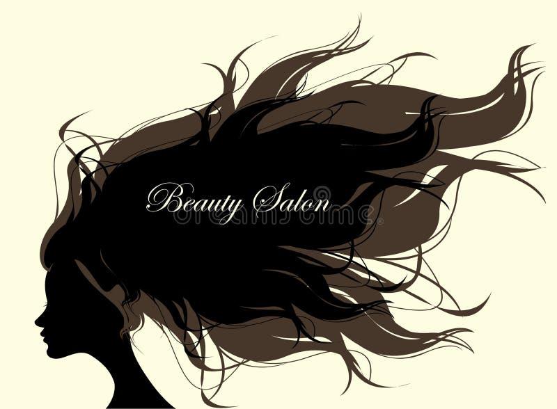 Modekvinna med långt hår också vektor för coreldrawillustration vektor illustrationer