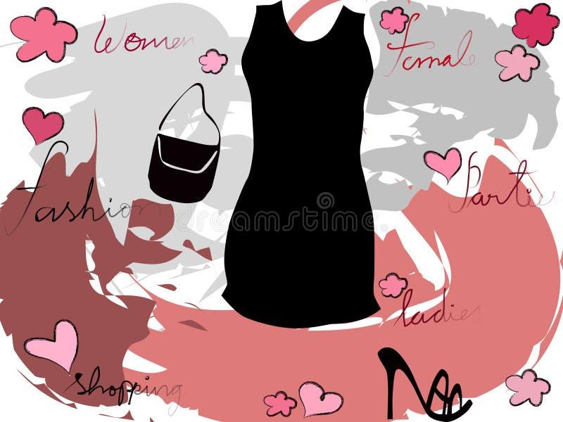 modekvinnlig vektor illustrationer