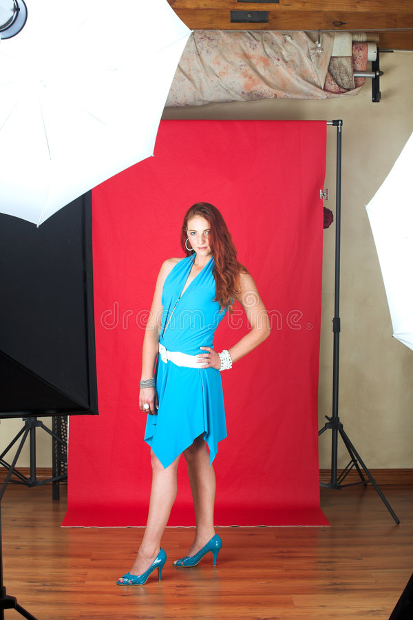 modekvinnligmodell royaltyfri foto