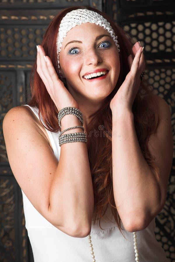 modekvinnligmodell royaltyfria bilder