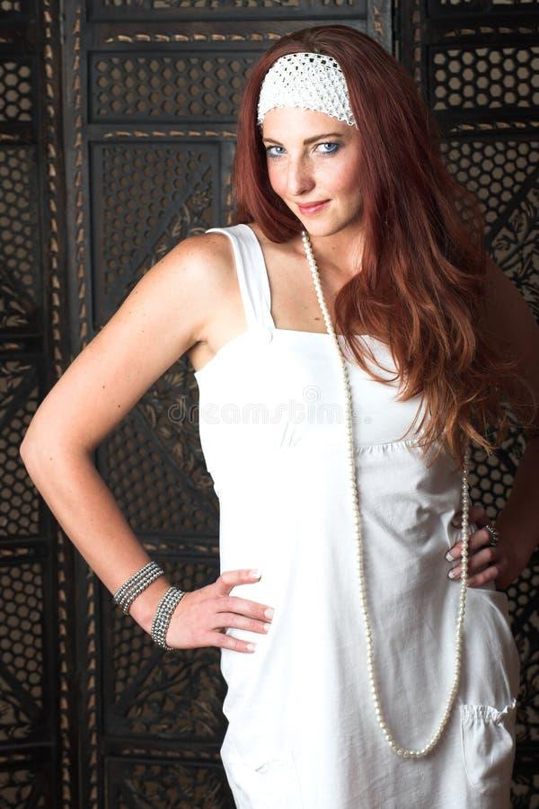 modekvinnligmodell royaltyfri bild