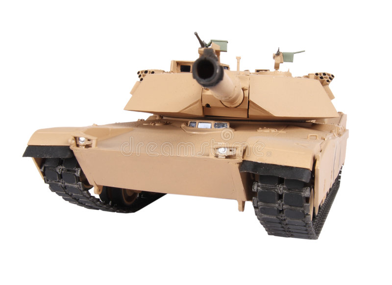 Model of Abrams tank. Plastic model of M1A1 Abrams MBT stock image