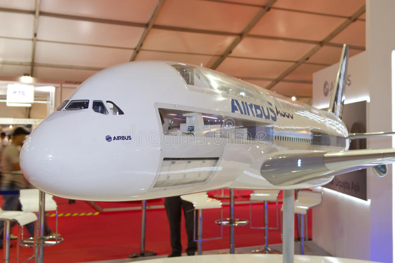 Download Model of Airbus A380 editorial photography. Image of aviation - 28684202
