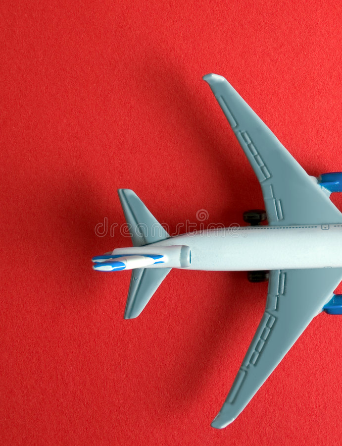 Model aircraft on red royalty free stock photography