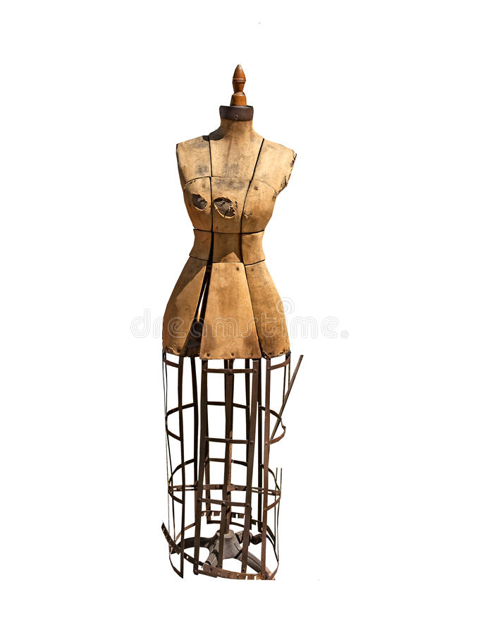 Model- antik klänningform för sömmerska arkivfoton