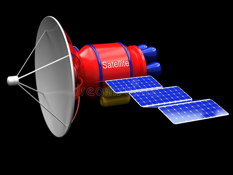 Download Model Of An Artificial Satellite Stock Illustration - Image: 22761273