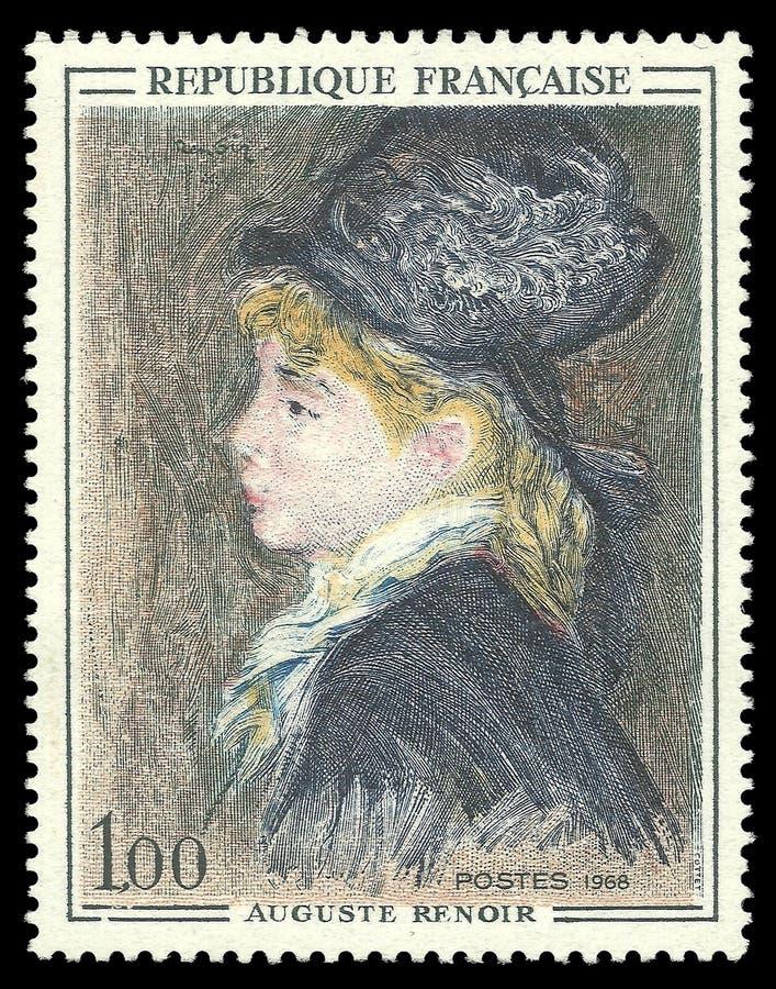 Model Auguste Renoir zdjęcie stock