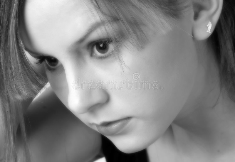 Model in B&W 11 stock afbeeldingen