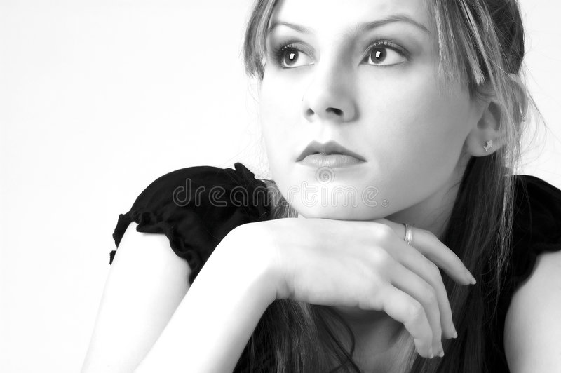 Model in B&W 12 royalty free stock images