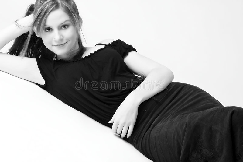 Download Model in B&W 14 stock image. Image of youthful, beautiful - 70921