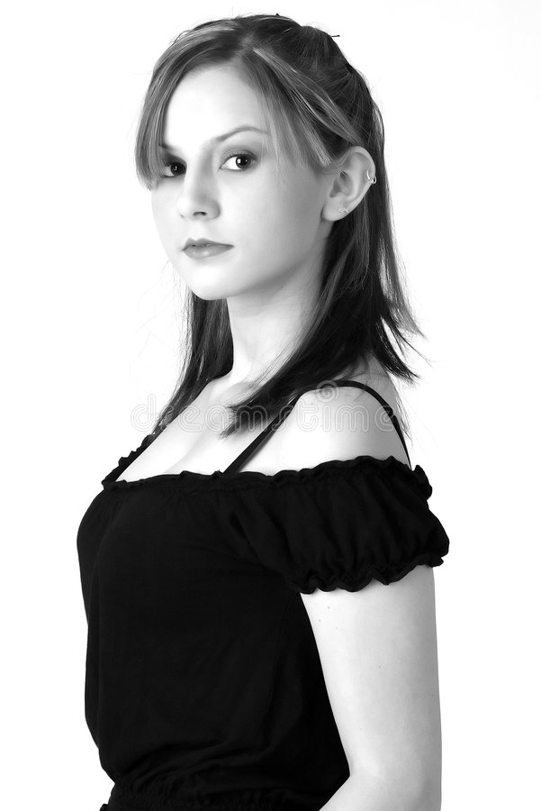 Model in B&W 5 royalty free stock images