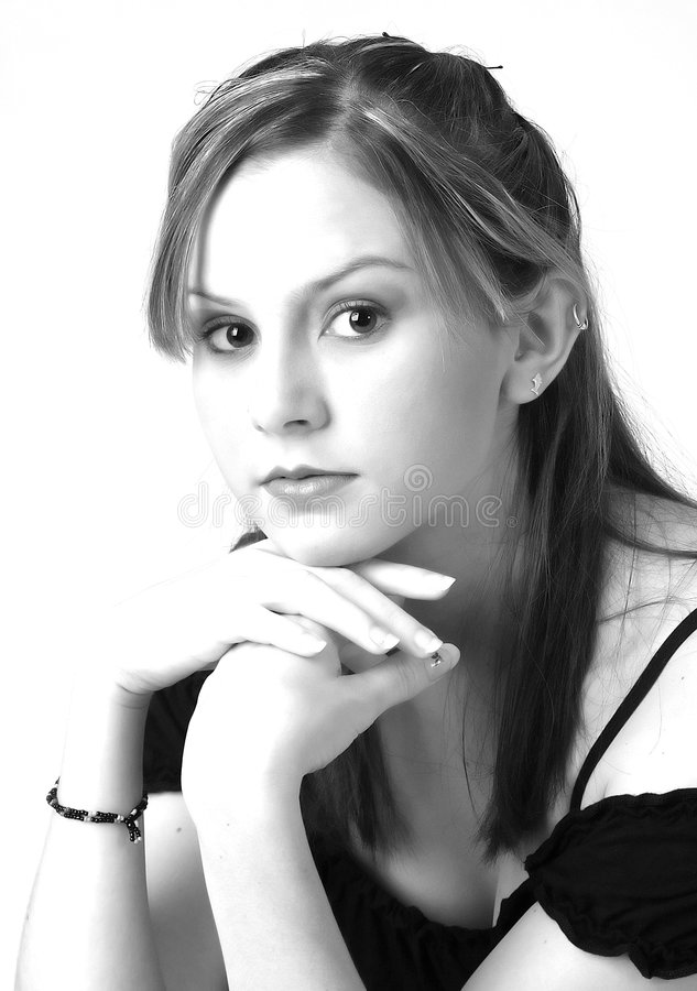 Model in B&W 6 royalty free stock photography