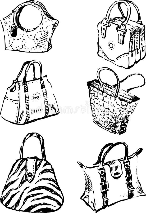 Download Model bags stock vector. Image of outline, style, women - 25165729