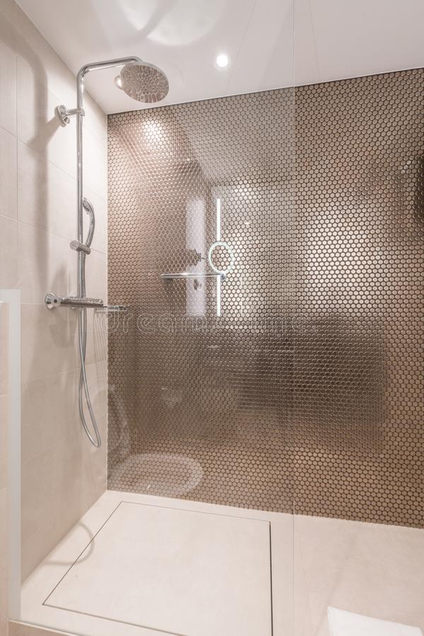 Model of Bathroom with Shower royalty free stock photography