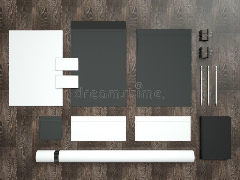 Model bedrijfsmalplaatje Reeks elementen voor het brandmerken van identiteit royalty-vrije stock foto's