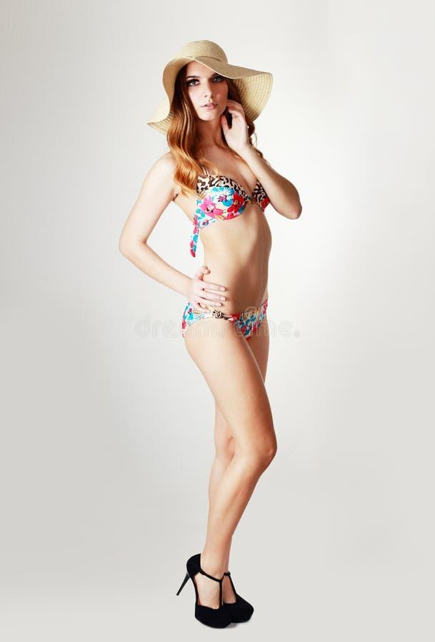 Model in bikini stock fotografie
