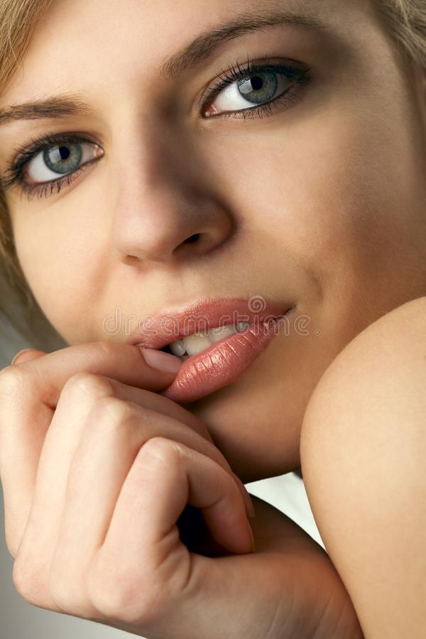 Download Model Biting Her Fingernail Stock Image - Image of hand, beautiful: 14054255
