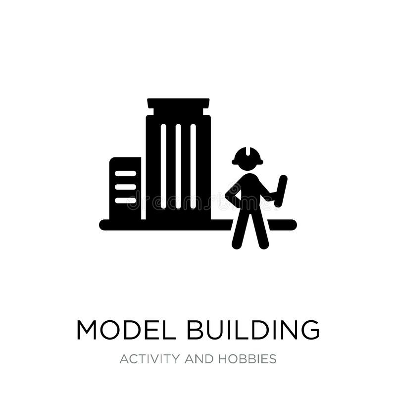 model building icon in trendy design style. model building icon isolated on white background. model building vector icon simple stock illustration