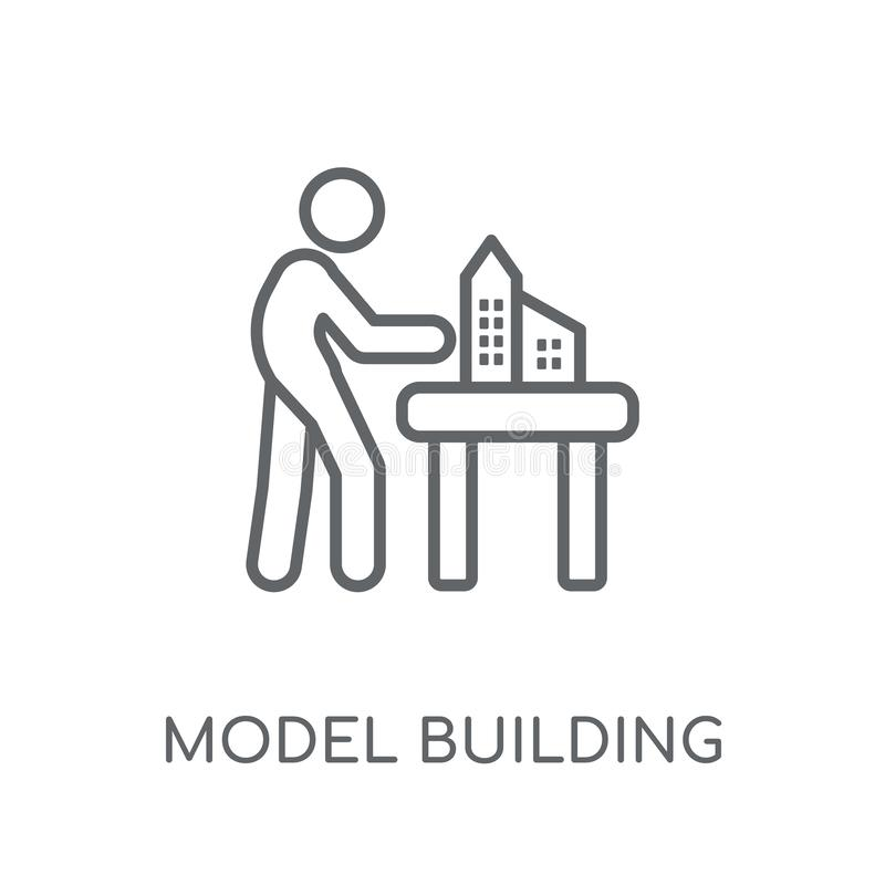 Model building linear icon. Modern outline Model building logo c stock illustration
