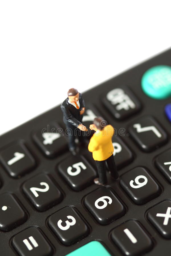 Model Business Figures Calculator A Stock Photo