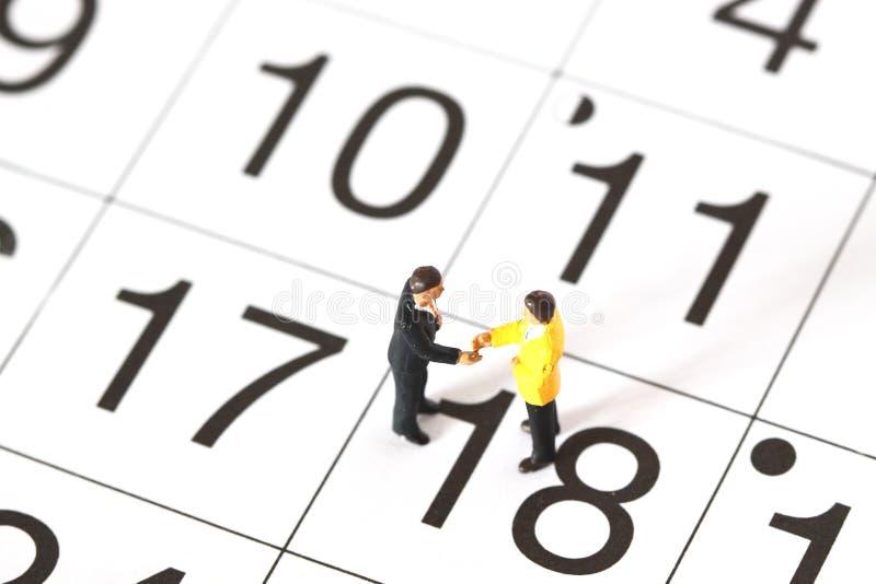Model Business Figures Calendar A Stock Photo