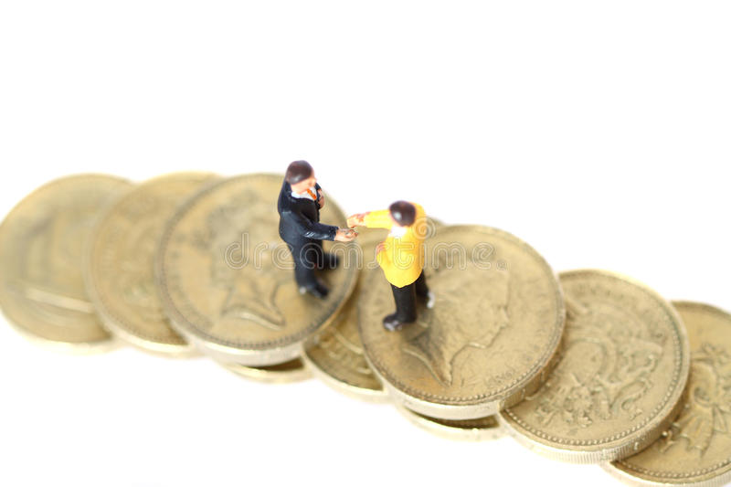 Model Business Figures Coins A Stock Photo