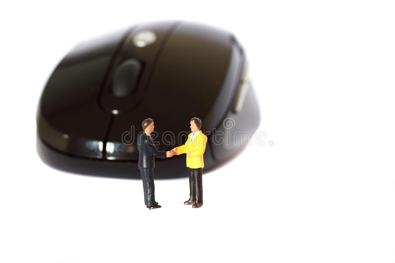 Download Model Business Figures Mouse A Stock Photo - Image: 41028338