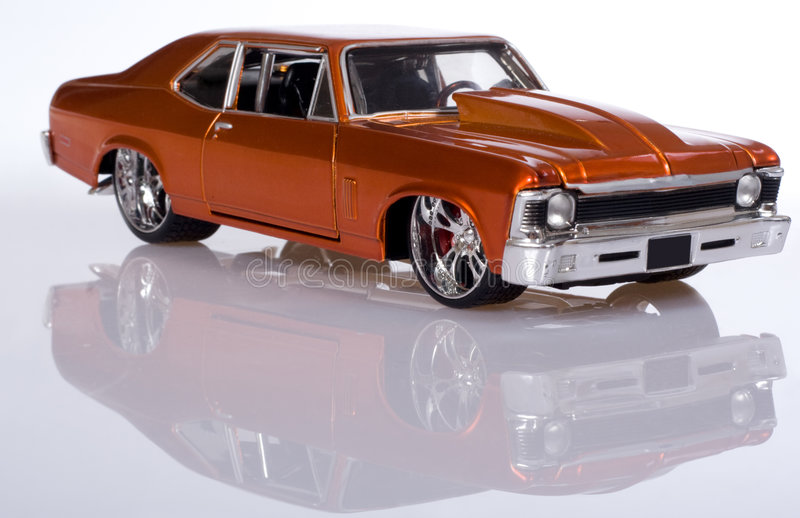 Model of the car. Colored photo stock photos