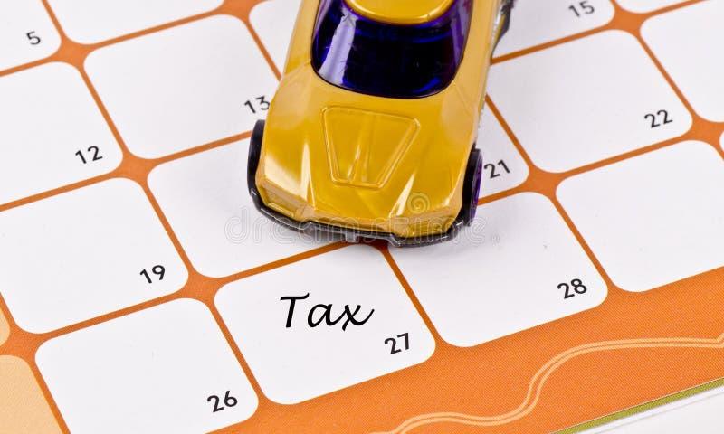 Model car on calendar stock images