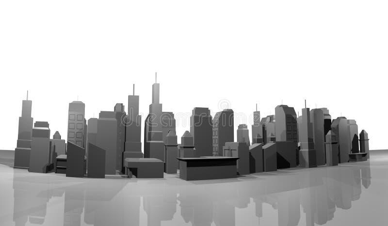 Download Model city stock illustration. Image of render, dimension - 41365180