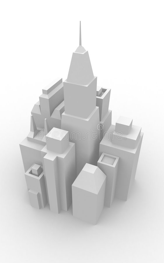 Download Model Cityscape stock illustration. Image of offices, manhattan - 403464