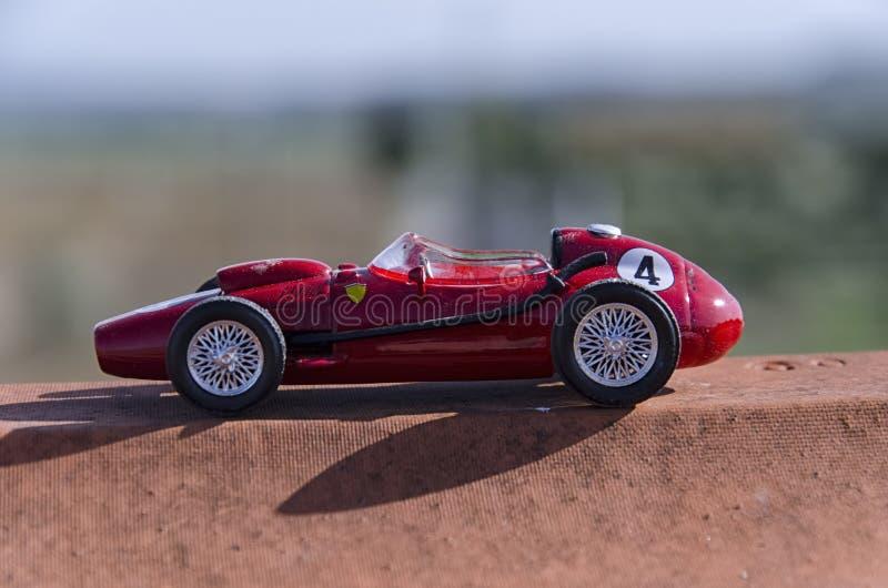 Model of a classic Formula one car. View model of a classic Formula one car stock photo