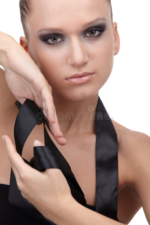 Download Model With Cloth Riband Royalty Free Stock Photography - Image: 8397127
