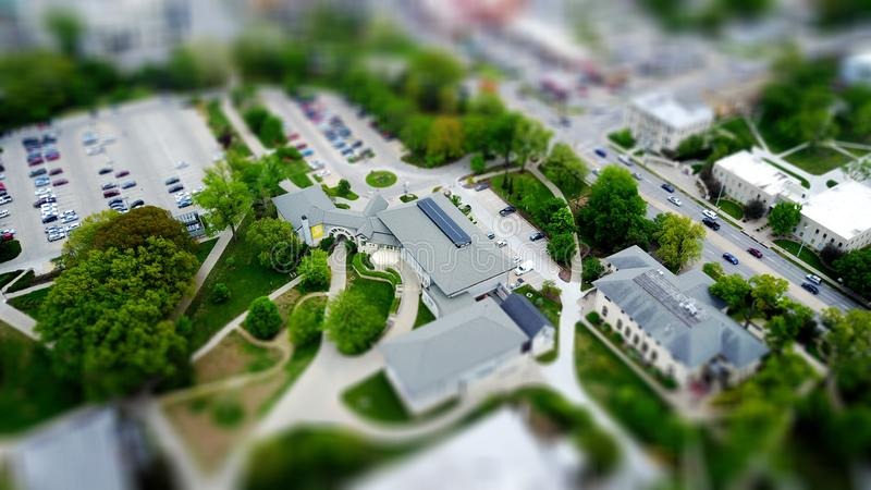 Model of college building royalty free stock photos