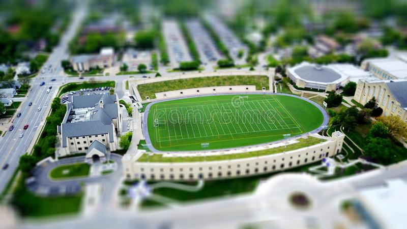 Model Of College With Soccer Field Dominio Público Y Gratuito Cc0 Imagen