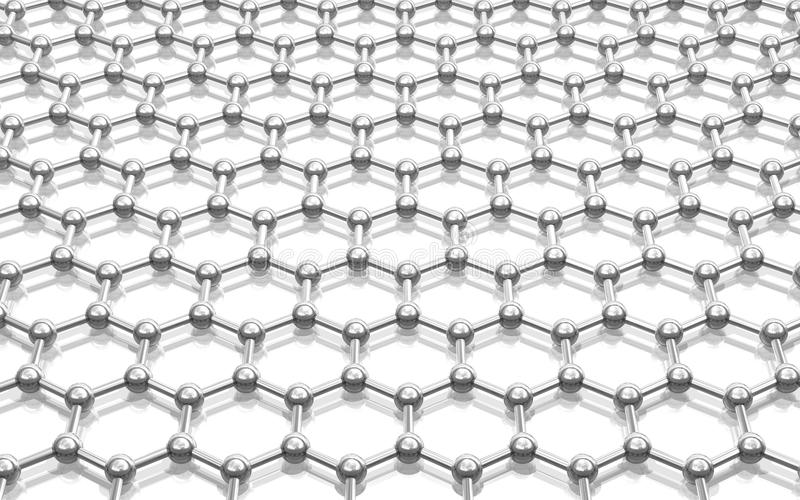 Model Crystal Lattice Graphene Royalty Free Stock Photography