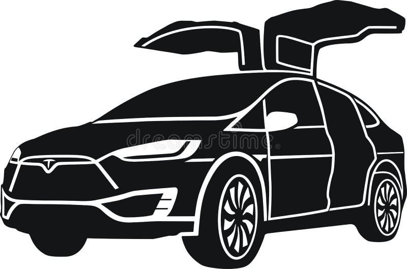 Model X de Tesla illustration libre de droits