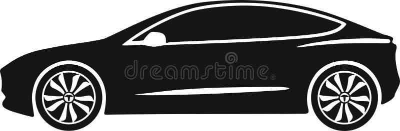 Model 3 de Tesla illustration stock
