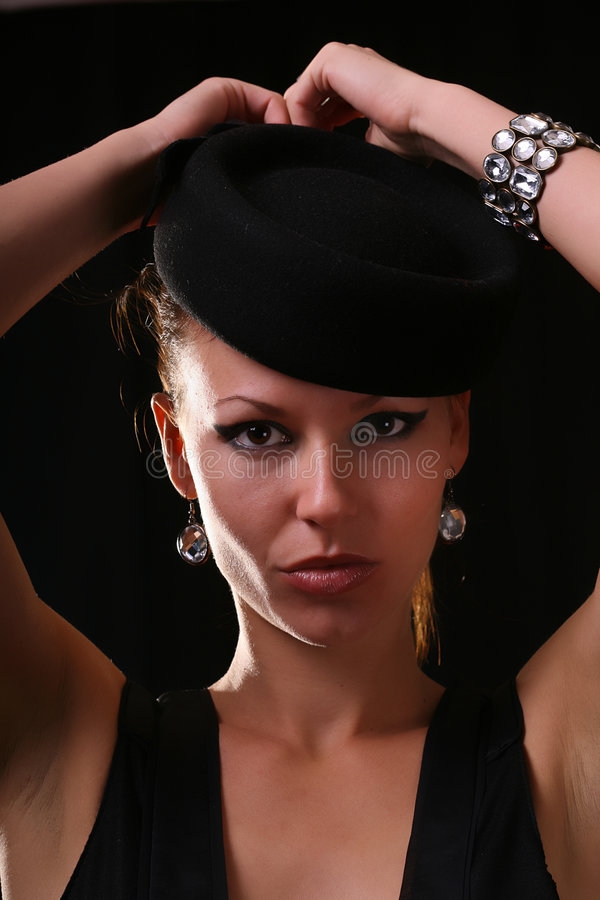 Model with diamond bracelet stock photography