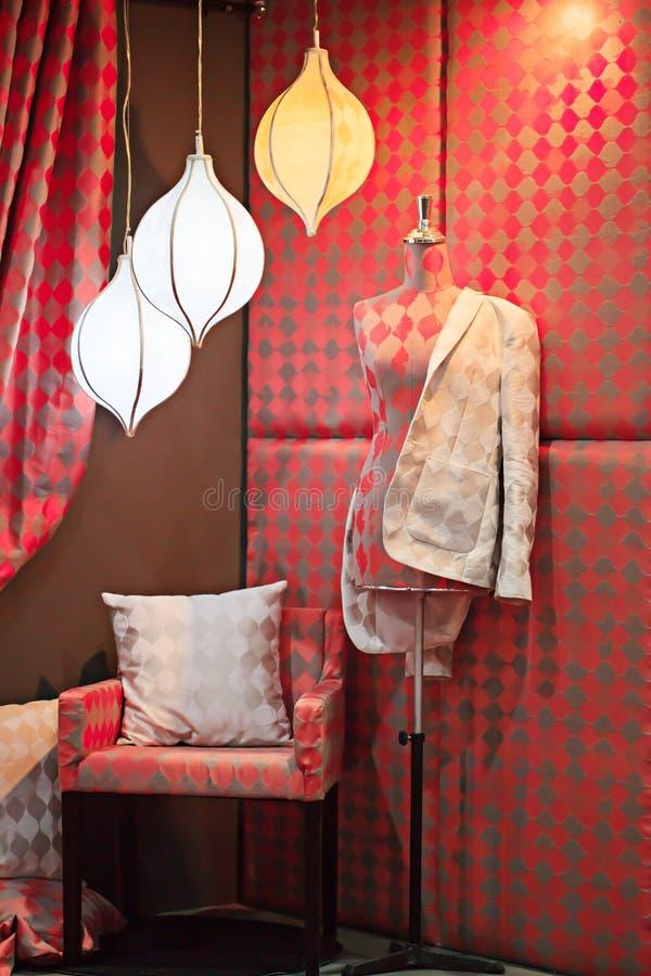 Model dla płótna z oświetleniowym studiiem zdjęcie royalty free