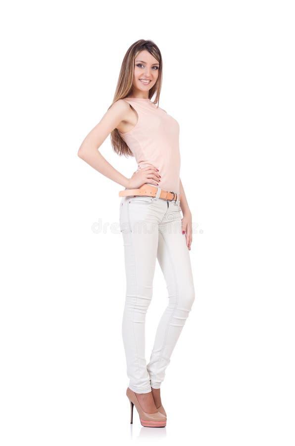 Model dragende modieuze kleding royalty-vrije stock afbeelding
