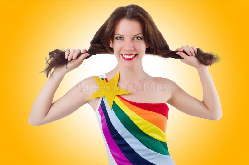 Model dragende modieuze kleding royalty-vrije stock foto
