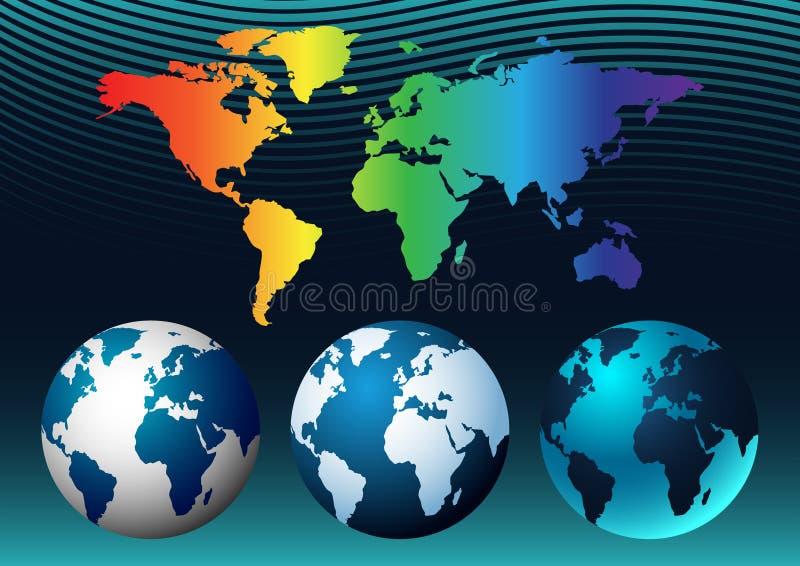 Model of the earth globe stock image