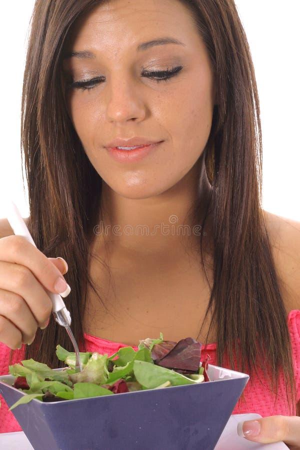 Model eating healthy