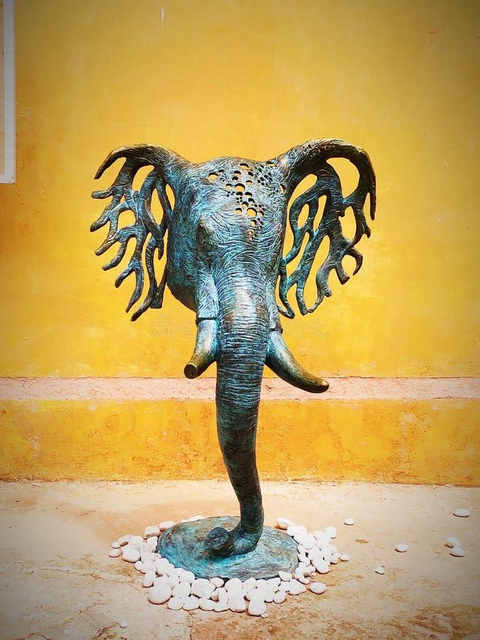 model of elephant face art stock photo