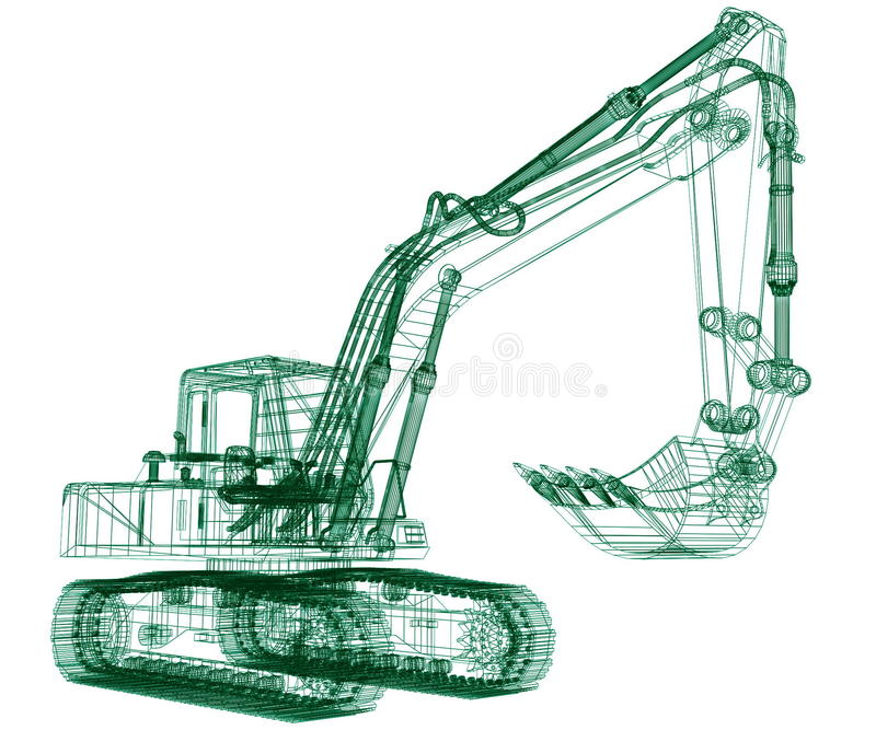 Download Model excavator stock illustration. Illustration of earth - 21302916