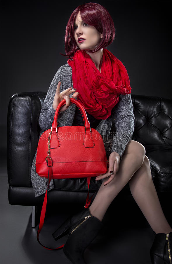 Model with Fashion Accessories stock photo